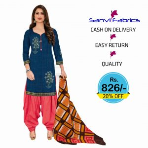 Sanvi Fabrics Patiala Dress - 1408A