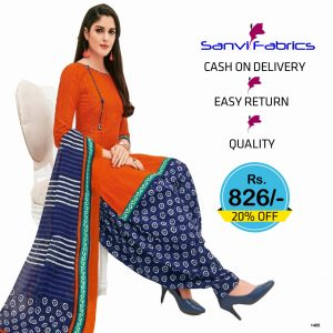 Sanvi Fabrics Patiala Suits Dress - 1405