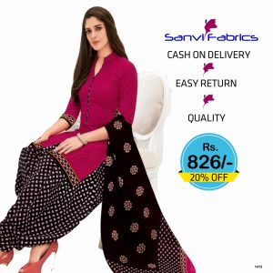 Sanvi Fabrics Patiala Suits Dress - 1413