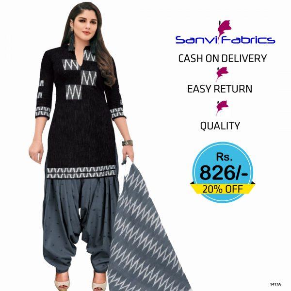 Sanvi Fabrics Patiala Suits Dress - 1417A