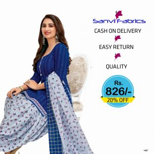 Sanvi Fabrics Patiala Suits Dress