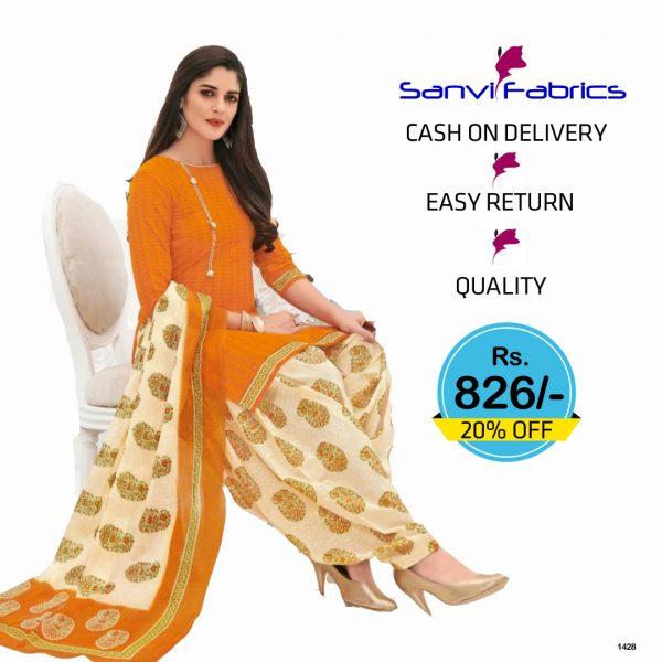Sanvi Fabrics Patiala Suits Dress - 1428