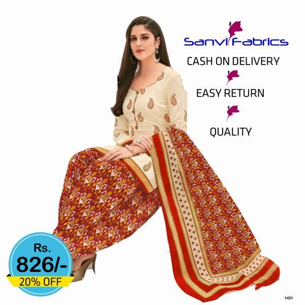 Sanvi Fabrics Patiala Suits Dress - 1431