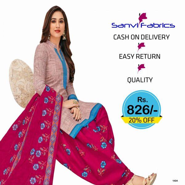 Sanvi Fabrics Patiala Suits Dress - 1434