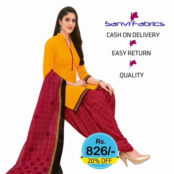 Sanvi Fabrics Patiala Suits Dress - 1437