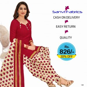 Sanvi Fabrics Patiala Suits Dress - 1439