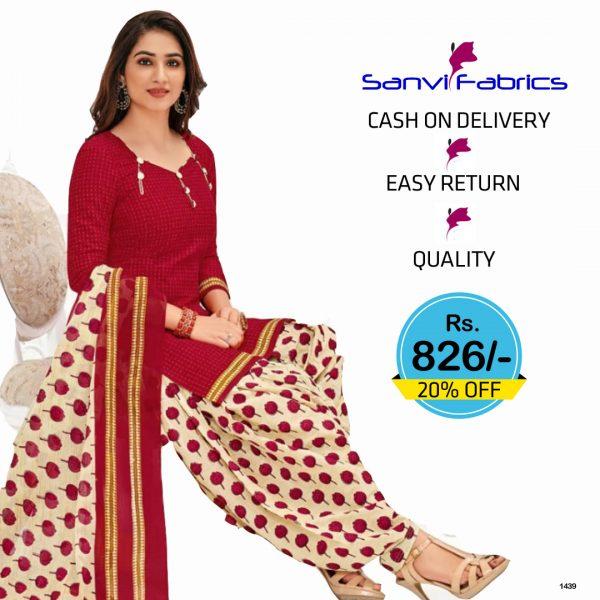 Sanvi Fabrics Patiala Suits Dress - 1439