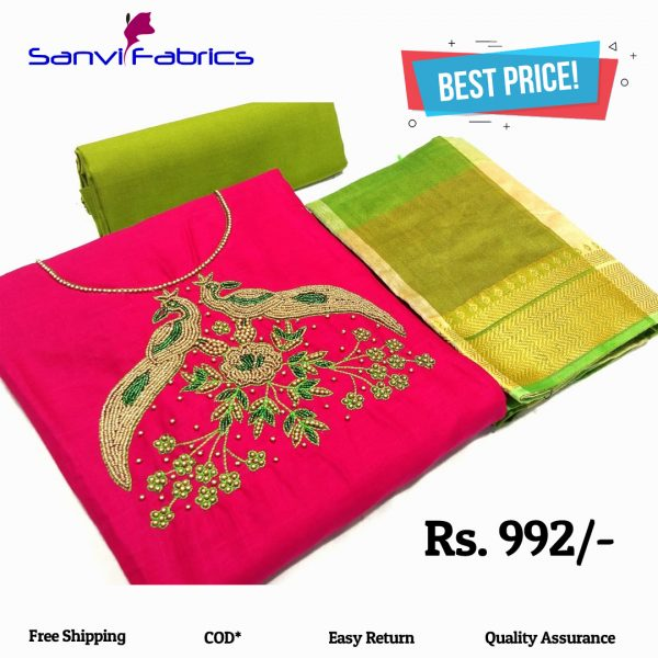 Sanvi Fabrics Rani Pure Salub Cotton Dress Material